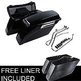 XFMT Hard Saddle bags Trunk w/Lid Latch & Key +Saddle bag Conversion Support...