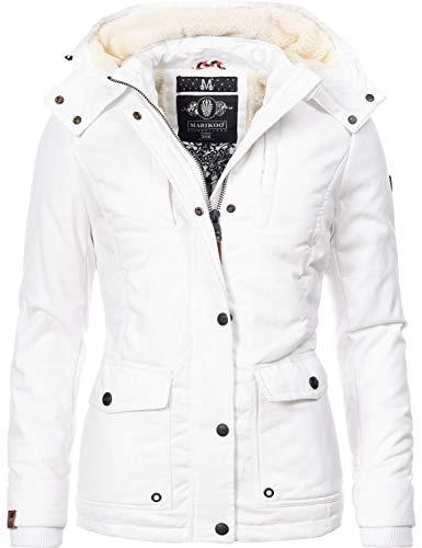 Marikoo Damen Baumwolljacke Winterjacke Keikoo Weiß Gr. S