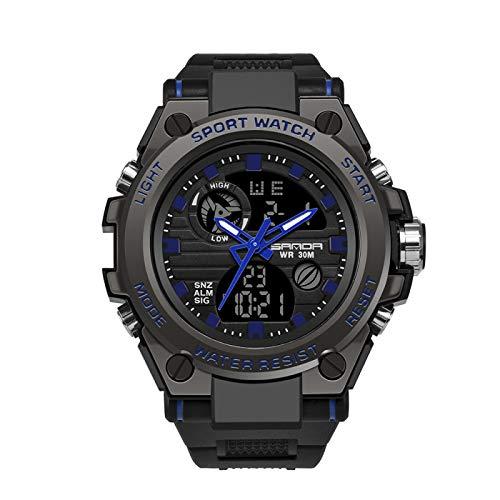 Reloj Deportivo Electrónico Impermeable Multifuncional Azul