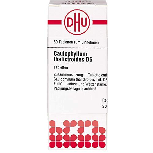 DHU Caulophyllum thalictroides D6 Tabletten, 80 St. Tabletten