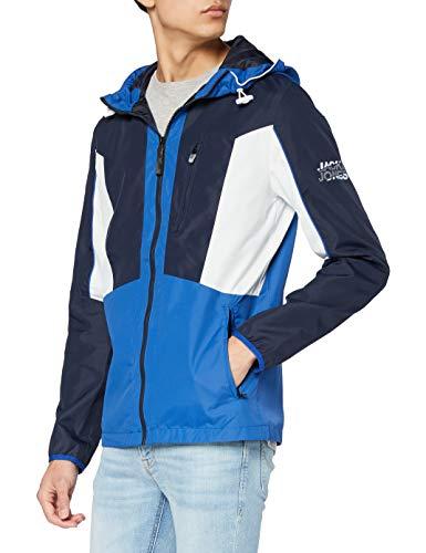 JACK & JONES Male Leichte Jacke Kapuzen Colourblocking LNavy Blazer 2