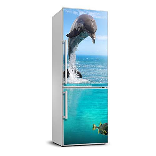 Tulup Etiqueta Engomada Del Refrigerador Cubierta 60x180 cm Película Autoadhesiva Pared Pegatinas Cubierta Del Refrigerador Decoración Sala de Estar Cocina - escafandra autónoma