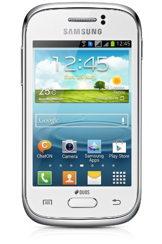 Samsung Galaxy Young DUOS Smartphone (8,3 cm (3,3 Zoll) Display, Quadband, 1GHz, 3 Megapixel Kamera, Bluetooth, Dual-SIM, Android 4.1) white