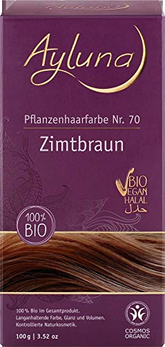 Ayluna Bio Pflanzenhaarfarbe Zimtbraun (6 x 115 gr)