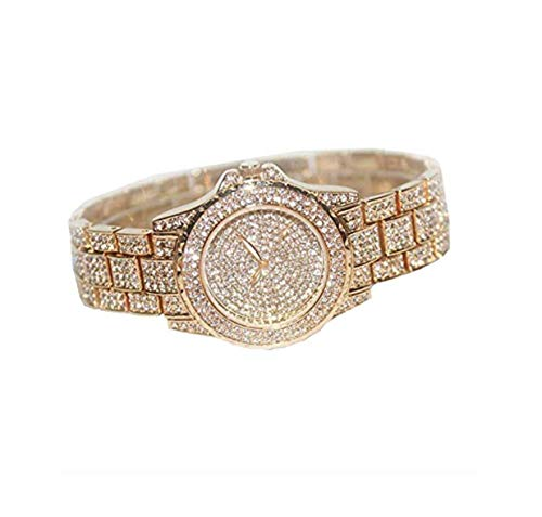 Silver Jewelry Bust Down AP Watch Supreme Necklace Rapper Bling Rollex Skelton Iced Out Hip Hop Watch Cubic Zirconia Diamonds (Gold)
