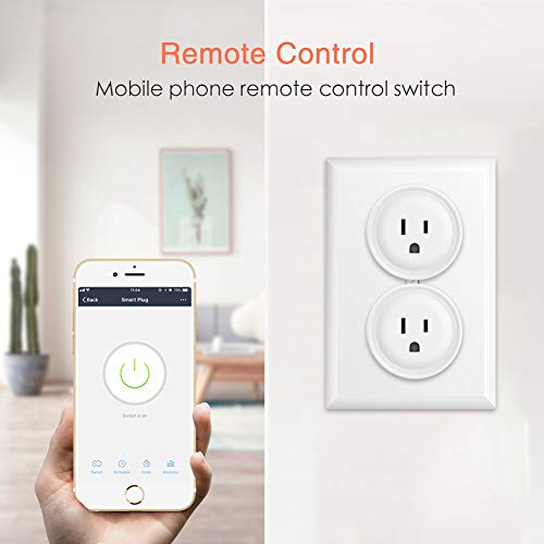 Smart Plug Wi-Fi Outlets, Electrical Outlet 4 Pack Remote Control ON/OFF/Timer Switch by Avatar Controls, Compatible with Alexa/Google Home/IFTTT, ETL Listed