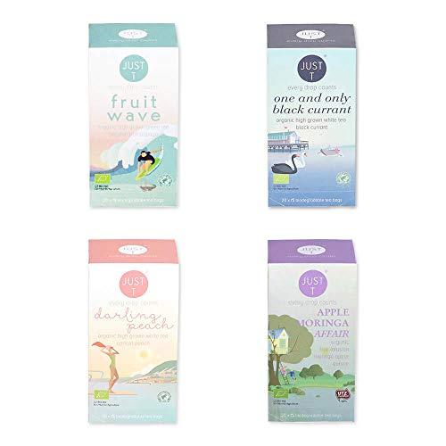 Just T Bio Tee Set Summer Spirit mit Organischem Tee Auswahl für Fruchtige Frische und Extra Power (Teebeutel (4 x 20))