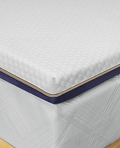 BedStory Surmatelas 160 x 200cm, Épaisseur 7,6cm, Surmatelas Memoire de Forme Gel, Surmatelas Ergonomique, Ventilé Haute Densité, Housse Hypoallergénique Lavable