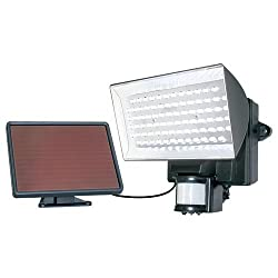 MAXSA Innovations 40226 Solar-Powered Motion-Activated 80 LED Security Floodlight, Black