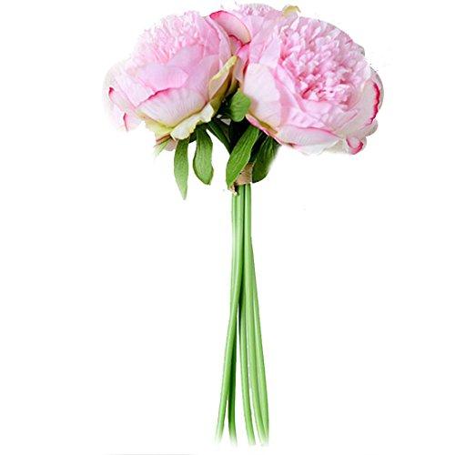 ZTTLOL Heißer Verkauf Künstliche Gefälschte Pfingstrose Seidenblumen Brautstrauß Blumenschmuck Home Hochzeit Festival Tisch Garten Decor, Dark Pink