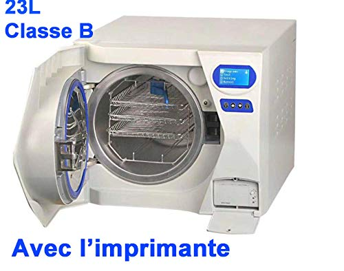 Classe B 23L Stérilisateur Autoclave à Vapeur sous vide avec imprimante pour le salon de beauté de laboratoire médical 220V
