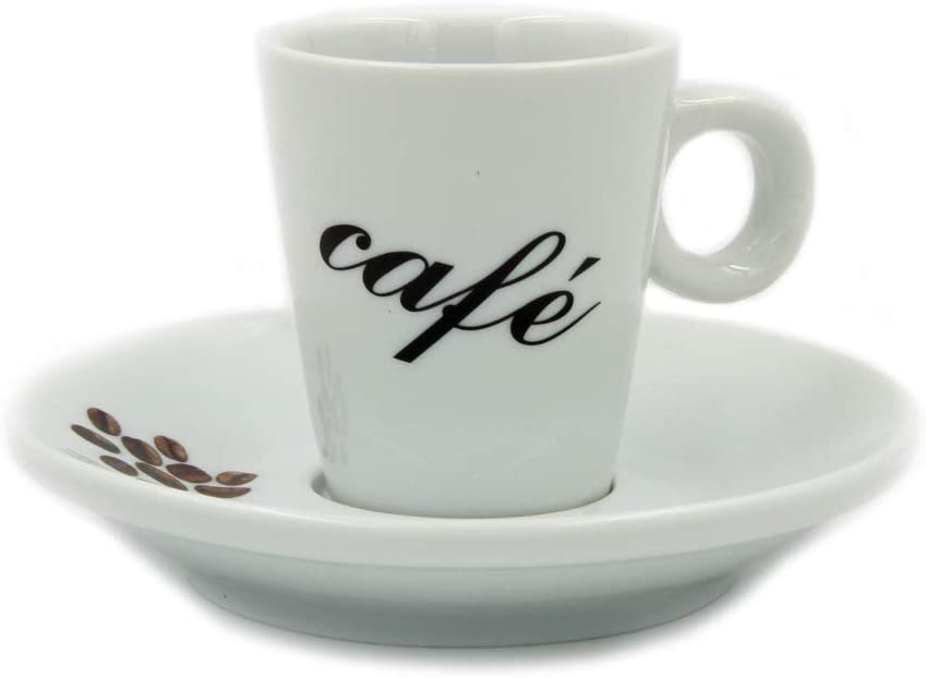 Set Of 6 Industry No. 1 Espresso Cups Gift and With Saucers Box Mail order cheap