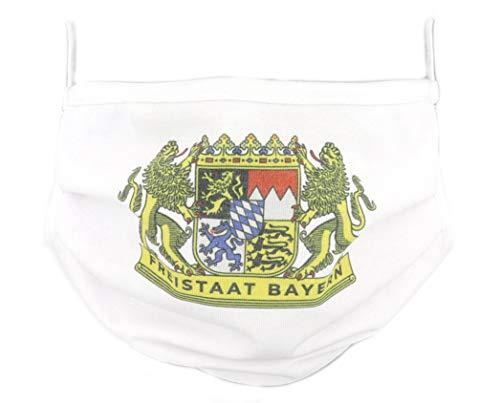 PICSonPAPER Freistaat Bayern Flagge Community Maske Stoffmaske (Freistaat Bayern)