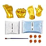 clacce Premium Baby Handabdruck und Fußabdruck Set, Gipsabdruck Baby Hand und Fuß, Fußabdruck Baby Set, Handabdruck Baby, Baby Abdruckset, Baby Gipsabdruck Set, Baby Geschenk