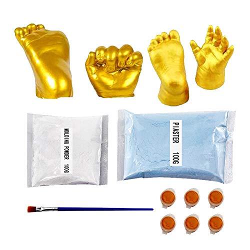 A/H 3D Gips Handabdruck Fußabdruck Baby, Souvenir Hand Casting Kit für Erwachsene Kinder, 3D Gipsabdruck-Set mit Handform DIY fur Paare Hochzeit Holding Gipsform (Mehrfarbig)