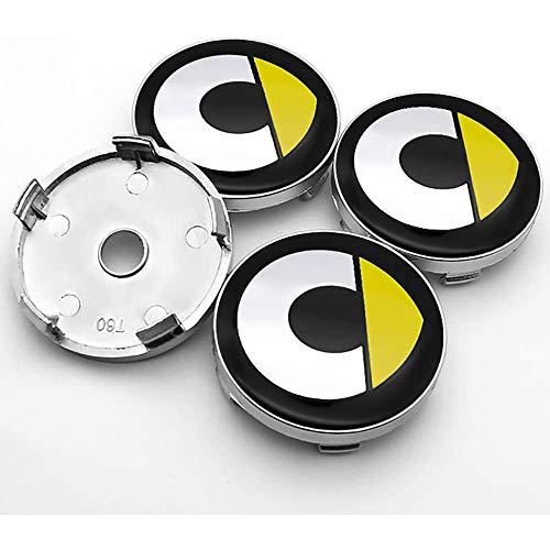 Auto 4 Stück, 60mm, Radnabenkappen, für Mercedes Benz Smart CLA CLS GLC GLE 60mm Alufelgen Nabendeckel Abzeichen Radnabenabdeckungen Autozubehör