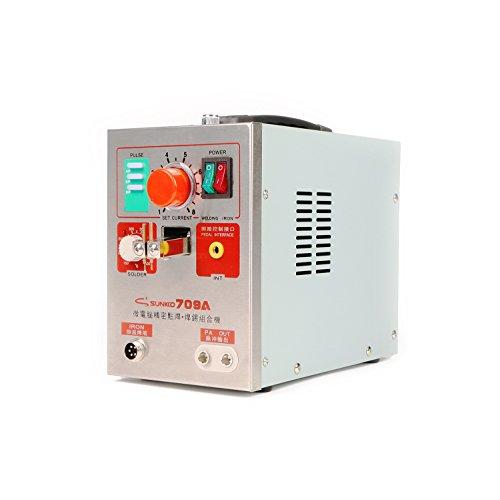 SUNKKO 709A Battery Spot Welder Battery Welding Soldering Machine for 18650 Lithium-ion Battery Pack Welding 0.3mm Nickel Strip,110V