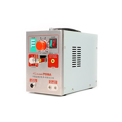 SUNKKO 709A Battery Spot Welder Battery Welding Soldering Machine for 18650 Lithium-ion battery pack Welding 0.3mm Nickel Strip