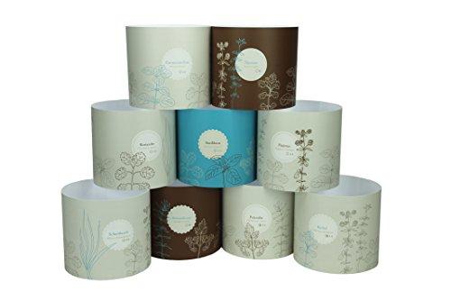 Blumentopf - Manschetten - Set Potteryshirt Übertopf Papier (Mandelu)