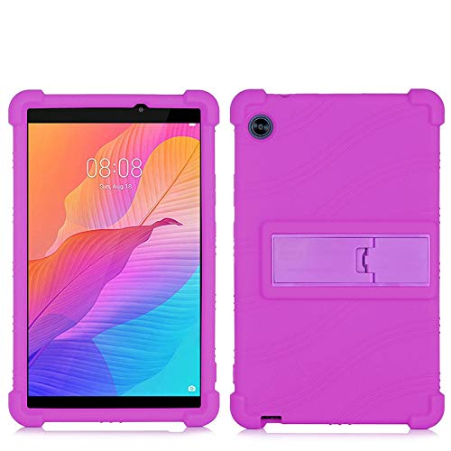 QYiD Case for Lenovo Tab E8, Light Weight Silicone Kids Friendly Soft Shock Proof Protective Cover Case for Lenovo TAB E8 TB-8304F TB-8304F1 Tablet, Purple