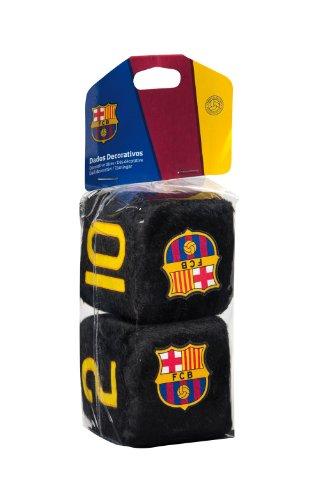 Sumex Fcb0605 - Dados Negros Decorativos'FC Barcelona', 7X7 cm