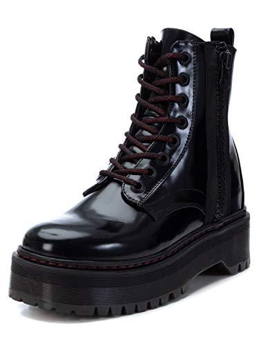 XTI - Botín Militar para Mujer - Color Negro - Talla 38