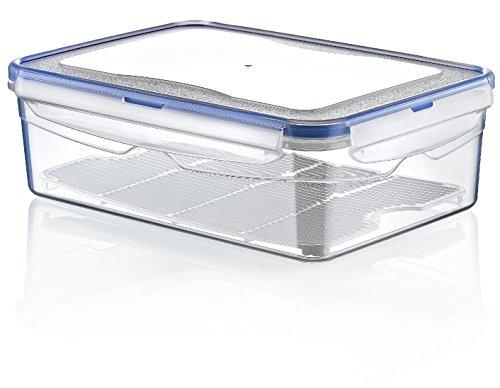 Hobby Vita - sottovuoto contenitore (plastica, di forma rettangolare, 1.4 L), cibo trasparente