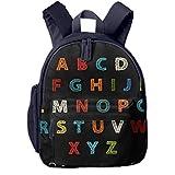 Mochilas Infantiles, Bolsa Mochila Niño Mochila Bebe Guarderia Mochila Escolar con Crochet Alphabet Letters para Niños De 3 A 6 Años De Edad