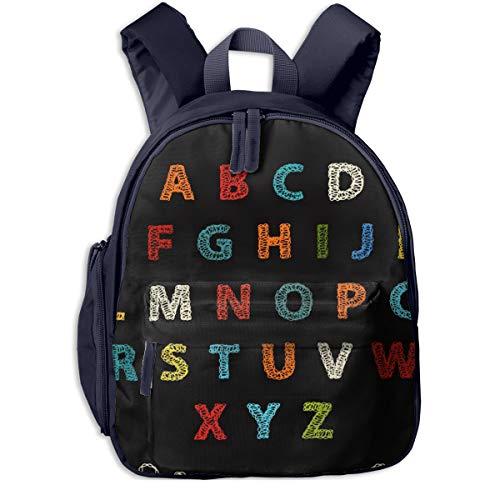 Kinderrucksack Kleinkind Jungen Mädchen Kindergartentasche Häkeln Sie Alphabetbuchstaben Backpack Schultasche Rucksack