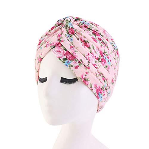 TININNA Diadema de algodón de Estilo étnico Sombrero Indio Pañuelo en la Cabeza Pañuelo en la Cabeza Pañuelo con Estampado de algodón Apto para cáncer, quimioterapia, pérdida de Cabello