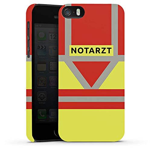 DeinDesign Premium Case kompatibel mit Apple iPhone SE Smartphone Handyhülle Hülle glänzend Beruf Notarzt Uniform
