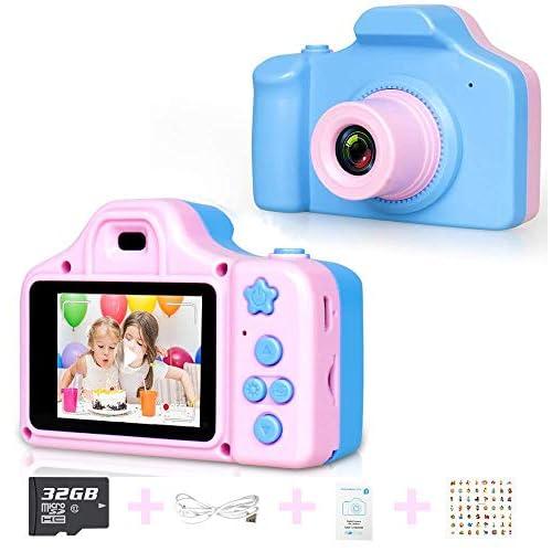 Goushy 1080P Macchina Fotografica per Bambini, Bambini Fotocamera Digitale Portatile Mini Recorder DV Videocamera per Bambine 2 Pollici LCD (Rosa)