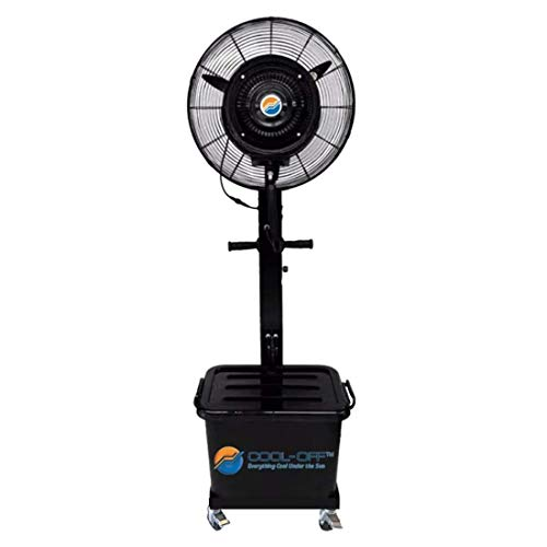 Cool-Off 10 Gallon water tank Tropic Breeze Portable Misting Fan with 90 Degree Oscillation (Midnight Black)