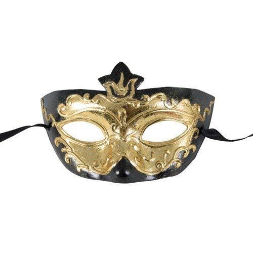 P 'tit Clown–26523–Wolf venezianischen Papier–Einheitsgröße–Schwarz/Gold
