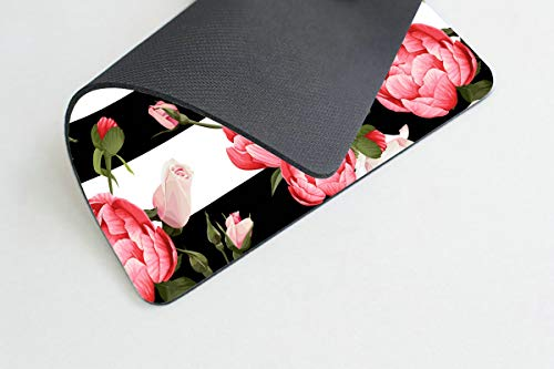 Smooffly Gaming Mouse Pad Custom,Peony and Roses Customized Rectangle Non-Slip Rubber Mousepad 9.5 X 7.9 Inch (240mmX200mmX3mm) Photo #3