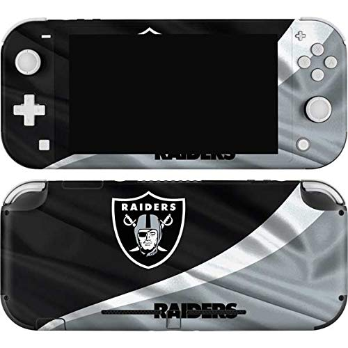 Skinit Decal Gaming Skin Compatible with Nintendo Switch Lite - Officially Licensed NFL Las Vegas Raiders Design