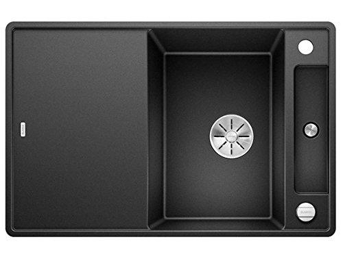 Blanco Axia III 45 S-F Anthrazit Schwarz 523 199 Granitspüle Spülbecken Küche mit Glasschneidbrett Exzenterbetätigung