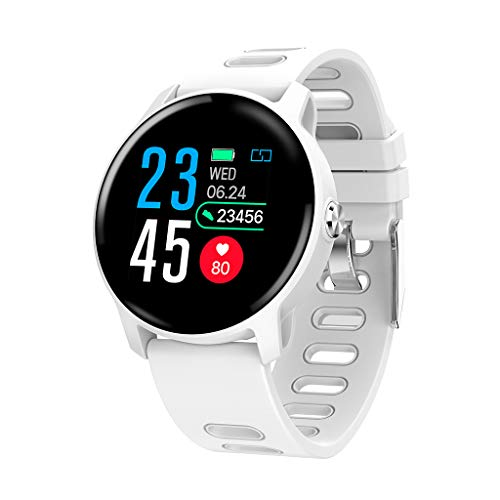S08 Deporte Podómetro Smartwatch IP68 Impermeable Fitness Tracker Frecuencia Cardíaca Monitor de Presión Arterial Hombres Mujeres Reloj Inteligente Pulsera