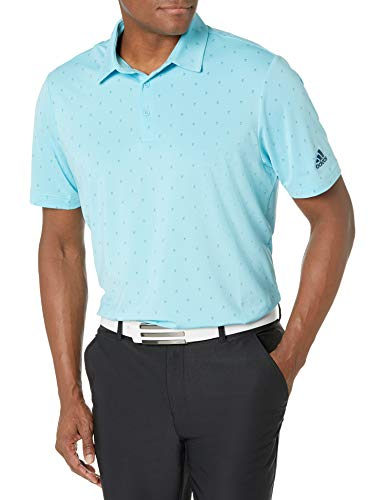 adidas Golf Men's Ultimate365 Primegreen Aero.rdy Polo Shirt, Blue, Small