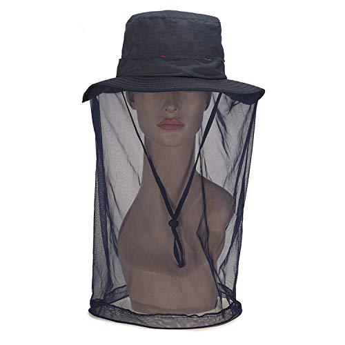 Xme Outdoor-Mesh Anti-Moskito-Hut, Sonnenschutz schnell trocknender Honig Hut, Bergsteigen Reiten Angeln Sonnenhut