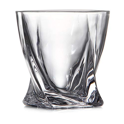 ChengBeautiful Vaso De Whisky De Cristal Cristal Vaso de Whisky de Cristal Copa de Brandy Vaso de Cerveza Espíritu Vino Vidrio sin Plomo de Cristal (Color : White, Size : One Size)