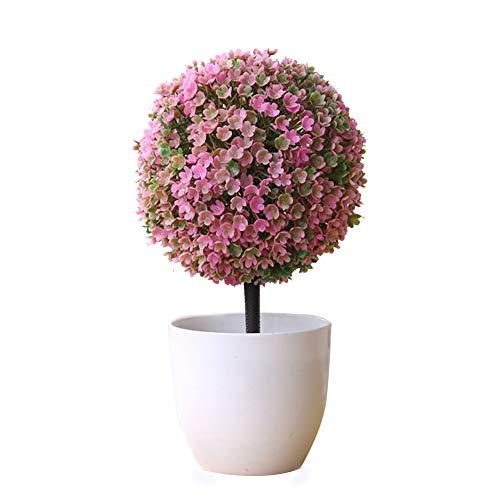 Kentop - Mini árbol artificial para decoración de casa 26×15cm Rosa