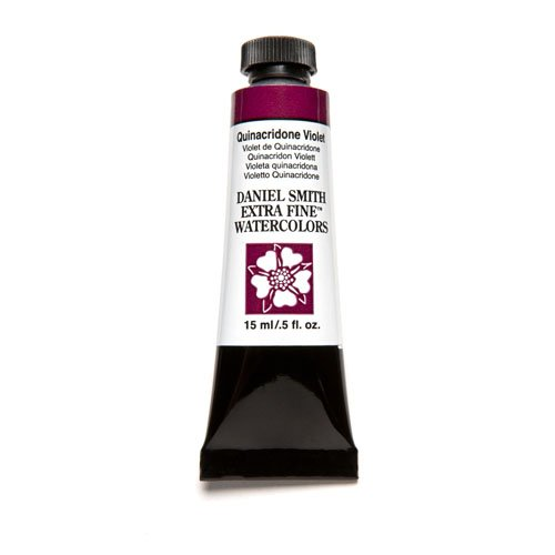 DANIEL SMITH 284600094 Extra Fine Watercolor 15ml Paint Tube, Quinacridone, Violet