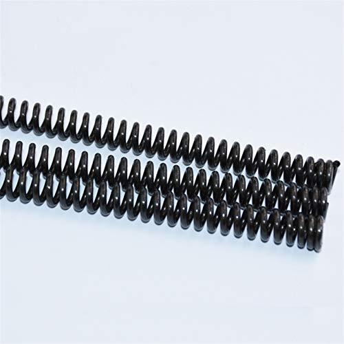 Ruirli-Kits de muelles Negro Acero de manganeso presión del Muelle, 1PCS, Primavera, Dia de Alambre de 6 mm Diámetro Externo Longitud 28-47mm 105-355mm Resistente al óxido y Duradero