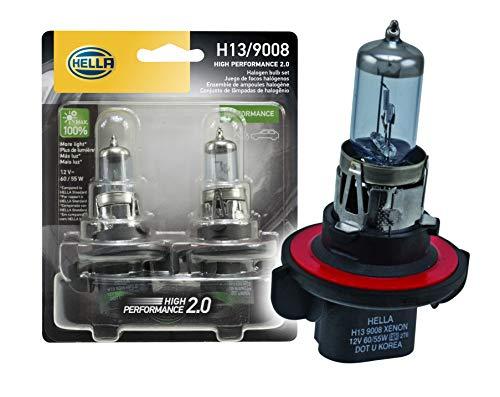 HELLA H13 2.0TB High Performance Bulb, 12V, 60/55W, 2 Pack