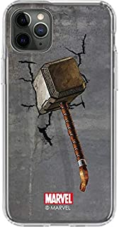Skinit Clear Phone Case for iPhone 11 Pro Max - Officially Licensed Marvel/Disney Mjolnir Hammer of Thor Design