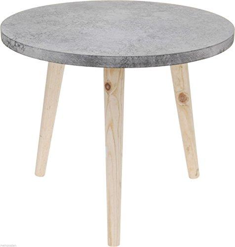Bijzettafel tafel betonlook nachtkastje opbergruimte grijs/bruin 39x32,5 cm