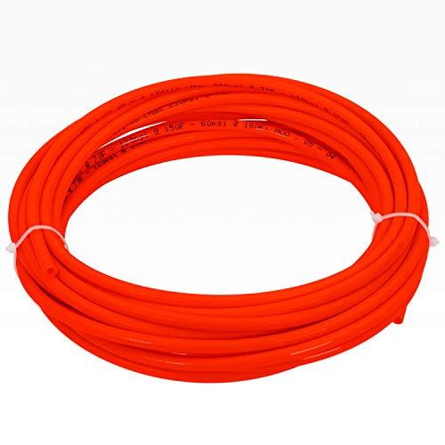 Waterslang slang 10 meter 1/4 inch rood/voor omgekeerde osmose koelkast etc.