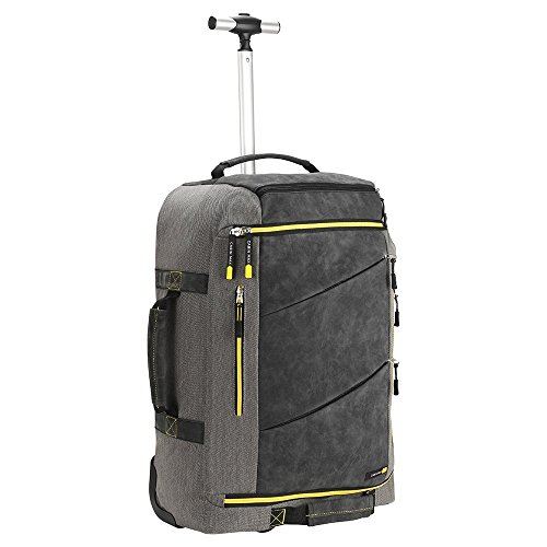 Cabin Max Manhattan Luggage Trolley on Wheels | Trolley Travel Backpack 55x40x20