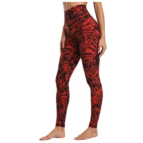 Kuyay Women's Black Leggings, Women's Long Reindeer Snowflake Print Christmas Yoga Pants Stretch Leggings 2021 New Yoga Pants - Multicolour - One size